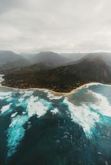 Na Pali coast from air