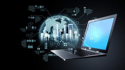 Wall Mural - Internet information technology concept