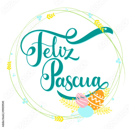 Feliz pascua colorful lettering happy easter lettering in spanish feliz pascua colorful lettering happy easter lettering in spanish hand written easter phrases m4hsunfo