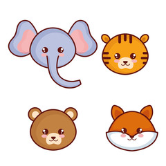cute and little animals characters vector illustration design