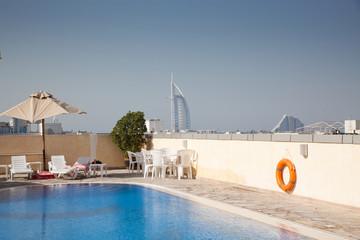 rooftop swimming pool in Dubai