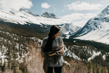 Happy Hiking Woman