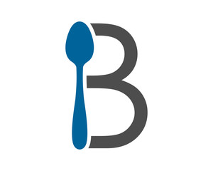 typography spoon cutlery tableware image vector icon