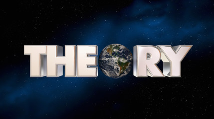 Theory Earth Space Planet Astronomy Science 3d Illustration