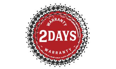 2 days warranty icon vintage rubber stamp guarantee