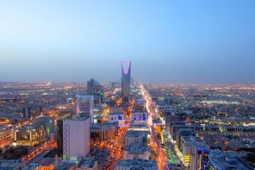 Riyadh Skyline Night View #7 Wall mural