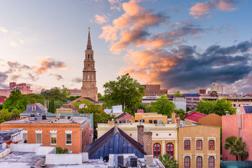 Charleston, South Carolina, USA Skyline Wall mural