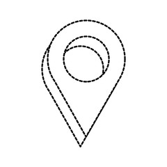 dotted shape location map symbol to geography destination