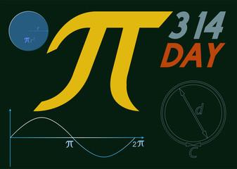 Pi symbol day banner