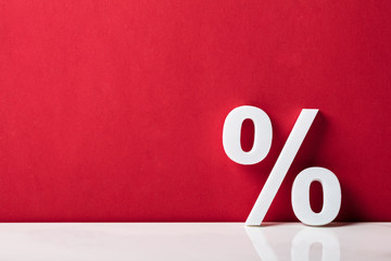 Close-up Of A Percentage Sign