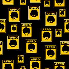 afro man sign seamless pattern