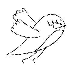 cute cartoon bird animal beauty vector illustration vector illustration dotted line