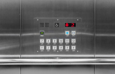 Elevator buttons panel or car operating panel (cop)