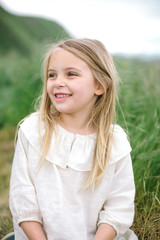 Portrait of a beautiful, smiling girl
