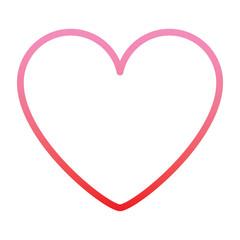 pink heart love romantic passion icon vector illustration degrade color line