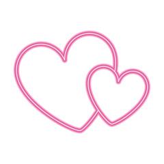hearts love decoration romance image vector illustration neon design