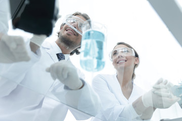 Group of students in the lab