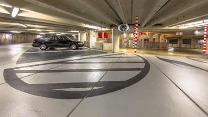 Circular Underground parking garage