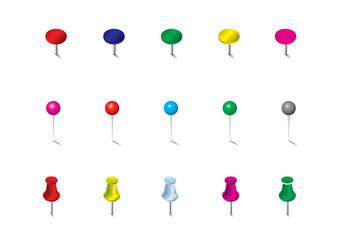 Colored Pins Flags and Tacks Set      Colored Pins Flags and Tacks Set
