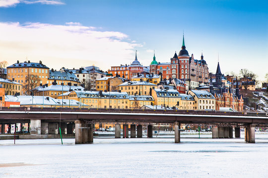 Architecture in the centre of Stockholm, Sweden.