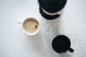 Coffee on the white