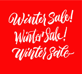Winter sale lettering set. Handwriting calligraphy sale inscription. Good for spring sale time. Sale Collection