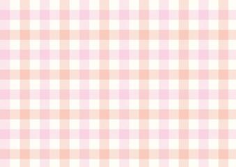 ガンクラブチェック-ピンクとオレンジ