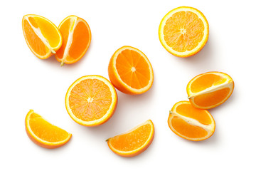 Orange Isolated on White Background Fotomurales