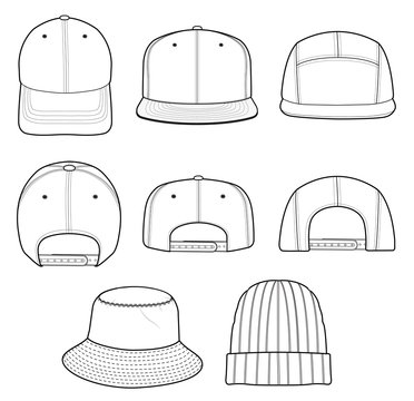 Hat Beanie CAP vector design illustration template