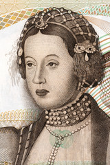 Infanta Maria portrait from Portuguese money