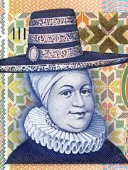 Ragnheidur Jonsdottir portrait from Icelandic money