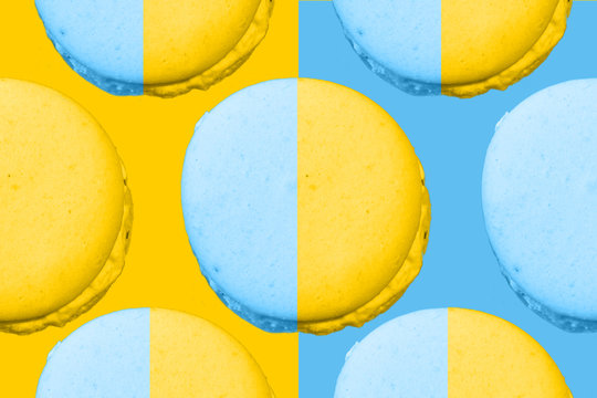 colorful macarons creative concept macarons on colorful backgrounds color concept