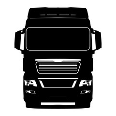 Black truck on a white background icon illustration