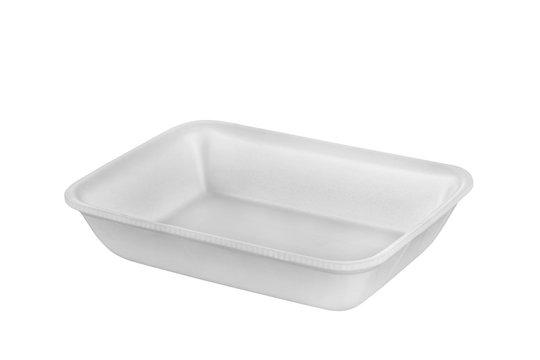 Plastic food tray,Styrofoam food tray isolated on white background