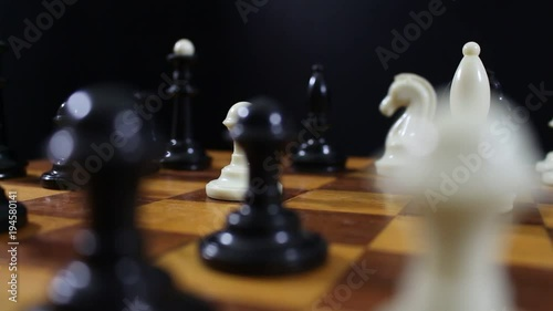 Game of chess  Friends in the competition play chess  World