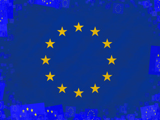Illustration of a flag of the European Union