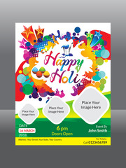 abstract artistic holi flyer