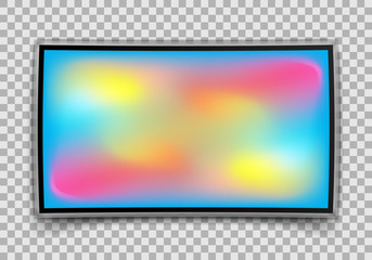 Realistic TV isolated on transparent background. Vector illustration.