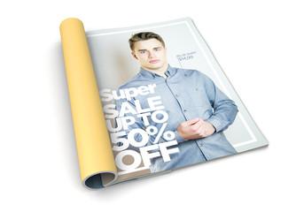isolated magazine fashion advertisement