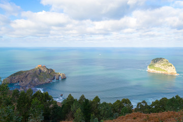 Scenic view of San Juan de Gaztelugatxe