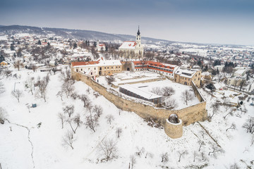 Beautiful church with fortress of Pecsvarad, Hungary