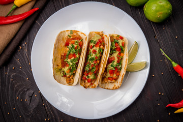 Mexican tacos with chicken