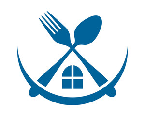 home window cutlery fork spoon image vector icon