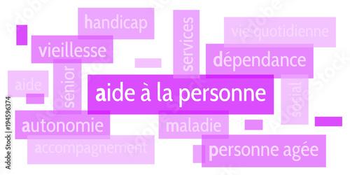 """Image Aide A La Personne nuage de mots aide à la personne v5"""" fichier vectoriel libre de"""