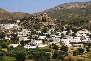 Landscape of Leros island, Dodecanese islands, Greece.