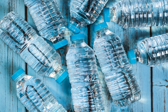 Bottles of mineral water
