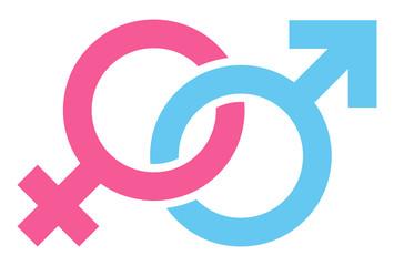 Diagonal Icons Female Male