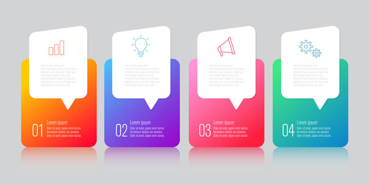 infographics design with speech bubble