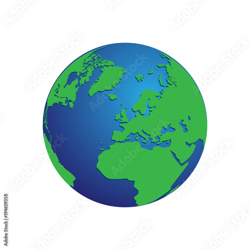 Realistic blue and green 3d world map globe isolated background realistic blue and green 3d world map globe isolated background vector eps 10 gumiabroncs Choice Image