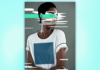 T-shirt Mockup with Colorful Accents 1